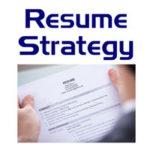 Resume Strategy